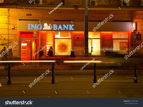 ing bank stock warsaw december 03 ing bank sign stock photo 347091455