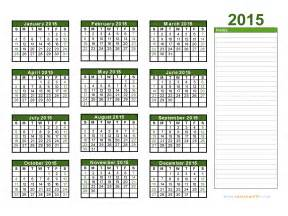 2015 Printable Calendar Template by 2015 Calendar Blank Printable Calendar Template In Pdf