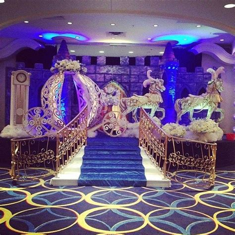 music theme quinceanera cinderella themed venue decorations for a happily ever