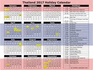 Calendar 2018 Thailand Thailand 2017 2018 Calendar