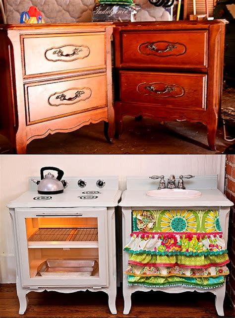 repurpose old furniture into a cute girly play kitchen best 25 before after furniture ideas on pinterest diy