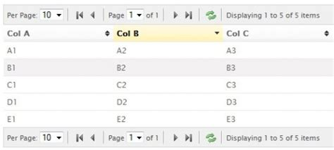 tutorial jquery grid grid exles javascript mootools dojo css jquery