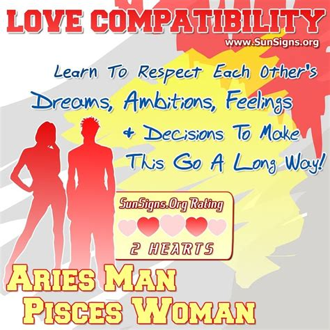 aries and pisces compatibility aries man and pisces woman love compatibility sun signs