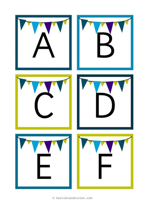 Letter Display instant display lettering alphabet bunting style