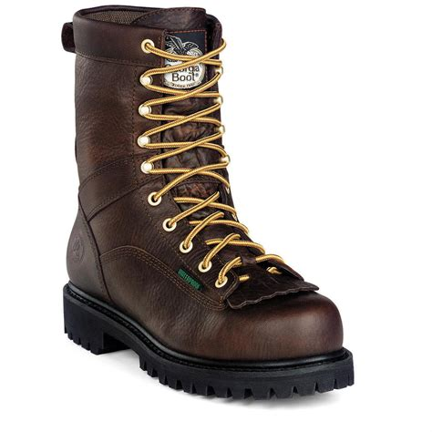 mens steel toed boots s waterproof low heel steel toe logger boots