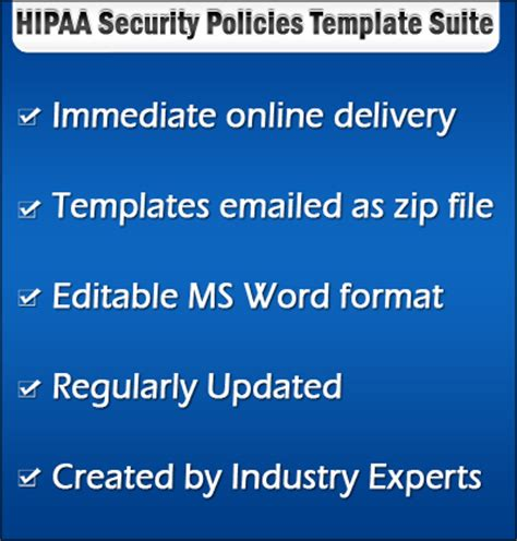 hipaa hitech policy templates hipaa security policies procedures