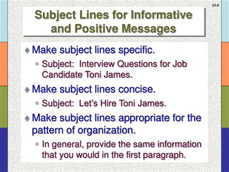 what pattern of organization does this paragraph follow ppt informative and positive messages powerpoint