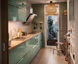Shabby Chic Kitchen Design Ideas Zielona Nowowczesna Kuchnia Ikea Zdjęcie W Serwisie