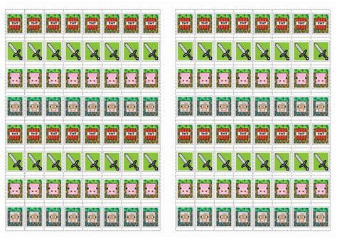 printable minecraft stickers minecraft stickers birthday printable