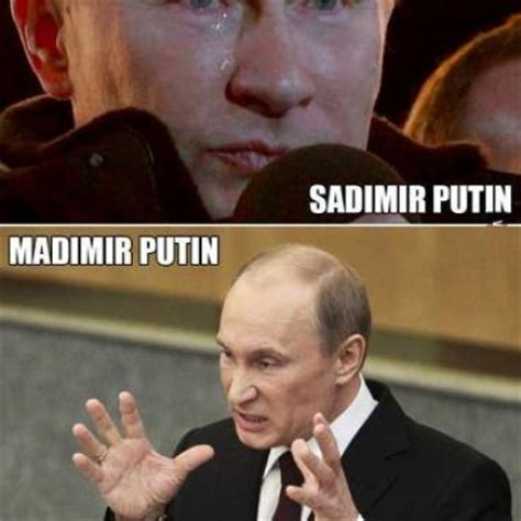 Vladimir Putin Meme - vladimir putin expressions through out his life to being