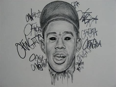 tyler the creator tattoo meaning ofwgkta tyler the creator design by tjschunemann on