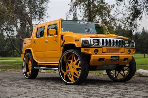 Wheels Hummer H2 Sut Hitam otomotif dipasangi pelek 34 inci mobil hummer ini lebih