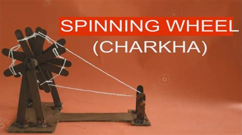 How To Make A Spinning Wheel Out Of Paper - make moving charkha spinning wheel with sticks