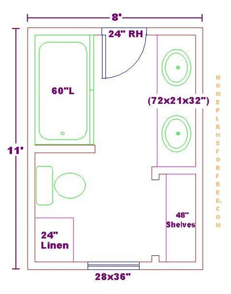 bathroom floor plans free modify this one 8x11 bathroom floor plan with bowl