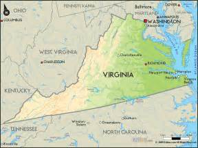 Map Virginia by Geographical Map Of Virginia And Virginia Geographical Maps