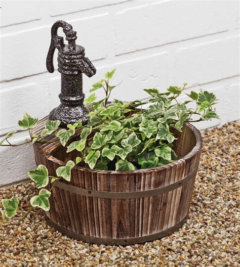 Decorative Wooden Planters by Decorative Wooden Water Planter 163 18 99