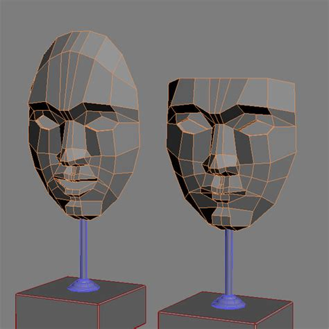 decorative accessories 2 masks on stands 3d model max