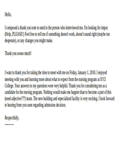 thank you letter after nursing student 40 sle thank you letters