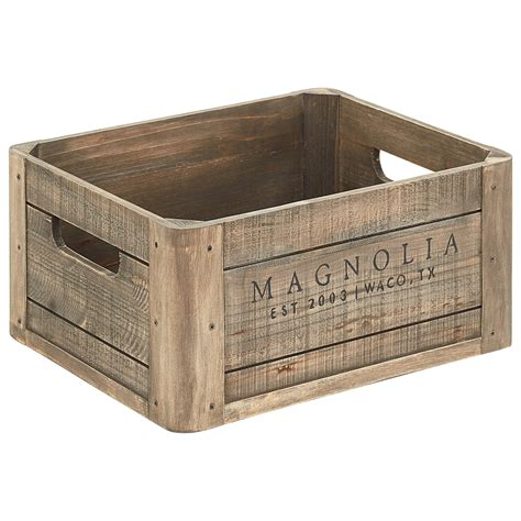 joanna gaines products magnolia home by joanna gaines accessories wood crate with