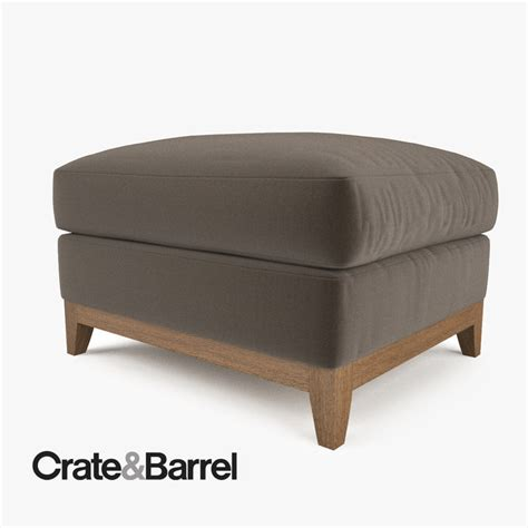 crate and barrel ottoman crate barrel taraval ottoman 3d max