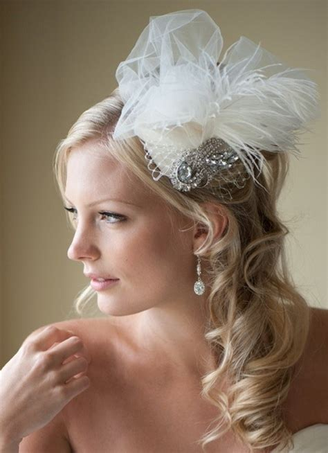 Wedding Hair With Fascinator by Ivory Bridal Fascinator With Jeweled Brooch