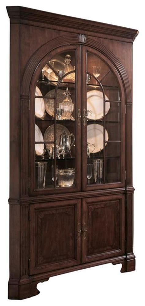 antique corner china cabinet furniture american drew cherry grove corner china cabinet in antique