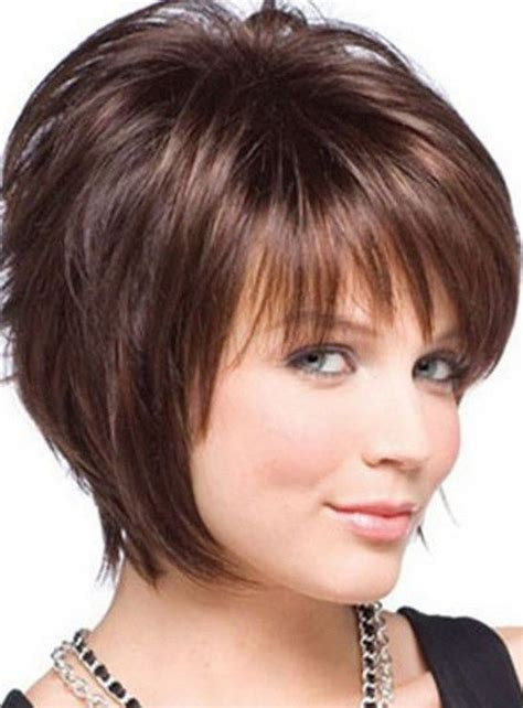 thick fine hairstyles short hairstyles for round faces and thin hair 2018