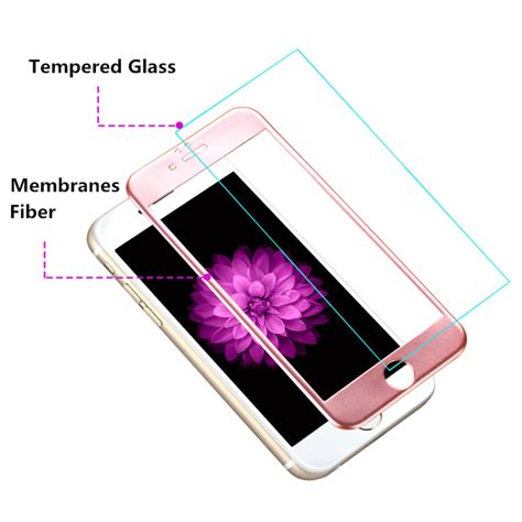 Iphone 6 Plus 55 3d Gold Tempered Glass zilla 3d carbon fiber tempered glass curved edge 9h for