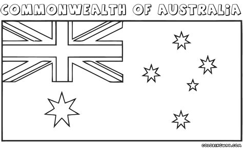 New Zealand Free Colouring Pages New Zealand Flag Coloring Page