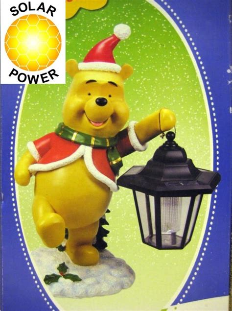 winnie the pooh holiday light new outdoor light winnie the pooh solar powered light gnome ebay
