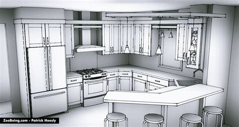 Kitchen Design Sketch sketchy kitchen renderings zooboing illustrations