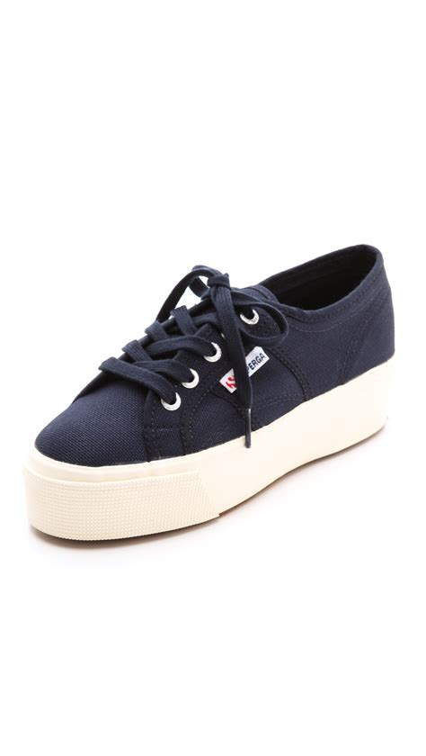 superga platform sneakers superga platform sneakers in blue lyst