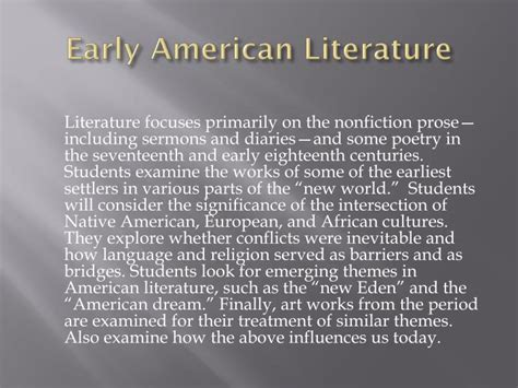 early literature ppt pilgrims and puritans powerpoint presentation id
