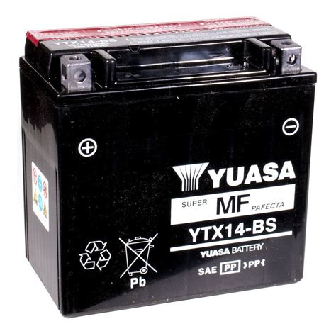 Yuasa YTX14 BS AGM Battery   RevZilla