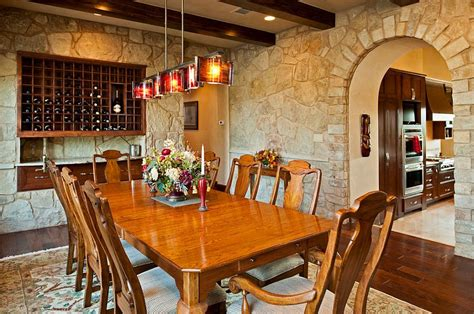 mediterranean stone accent wall mediterranean living 15 gorgeous dining rooms with stone walls