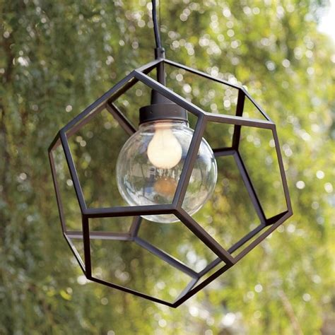 Contemporary Outdoor Pendant Lighting Polyhedron Pendant Contemporary Outdoor Hanging Lights By West Elm