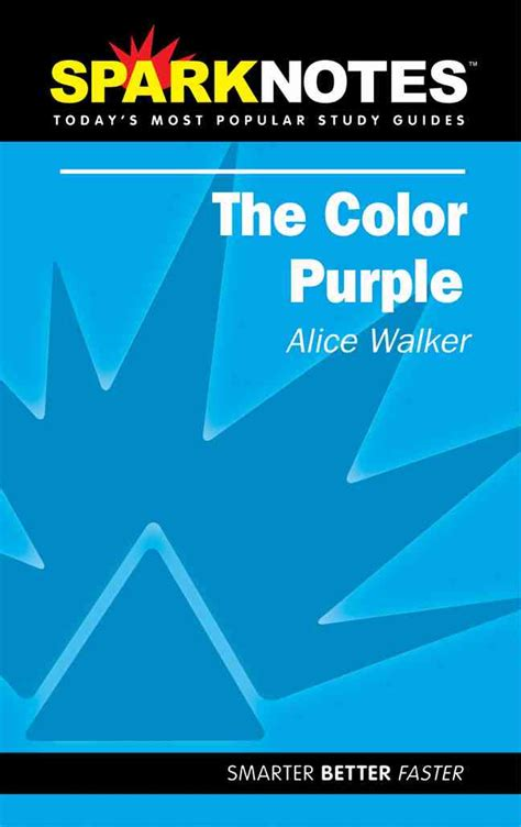the color purple sparknotes sparknotes the color purple 9781586634483 by walker