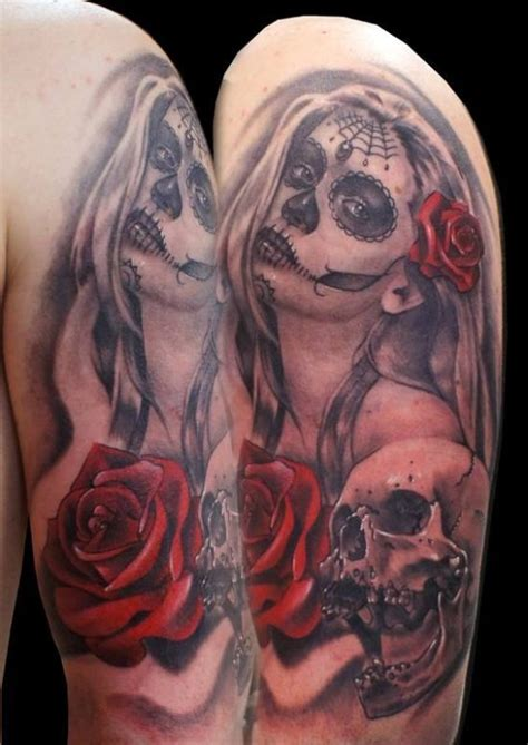 girl skull tattoo designs 51 ultimate sugar skull tattoos amazing ideas
