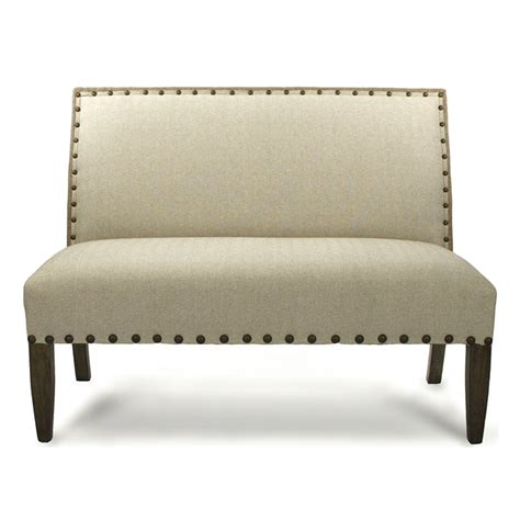 dining banquette bench french country cottage light linen banquette dining settee
