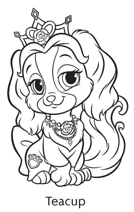 teacup disney princess coloring pages puppy coloring