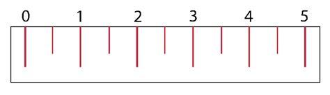 printable ruler half inch linear measurement