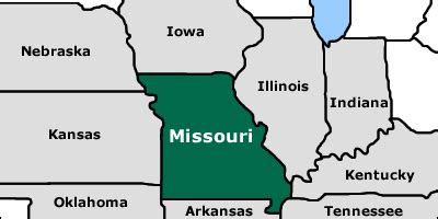 missouri map and surrounding states where is missouri on the map my