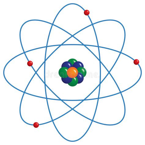 Atom Model Vector Clipart atomic model stock vector illustration of computer