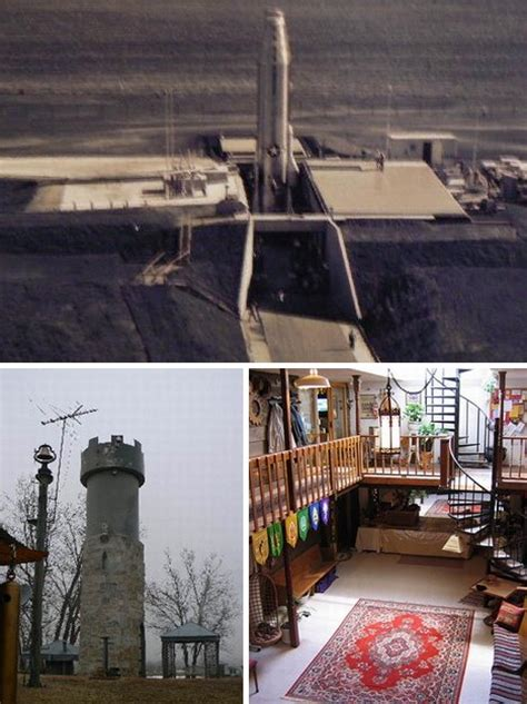 nuclear family housing in missile silo homes