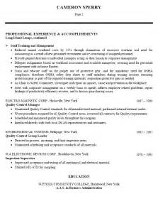 Resume Templates For Production Production Resume Sle Experience Resumes