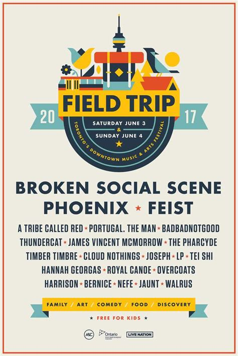 Field Trip Reveals 2017 Lineup With Broken Social Scene Phoenix Feist School Field Trip Flyer Template