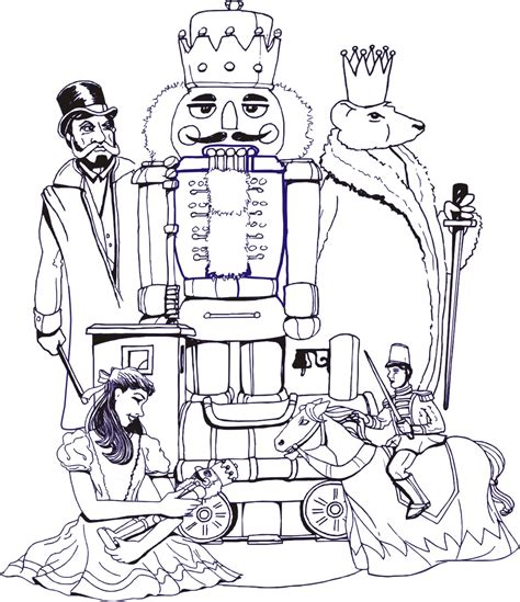 free nutcracker coloring pages to print kids fun page