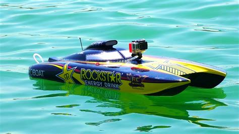 rc gas boat catamaran rc adventures racing dual rockstar 48 quot gas powered