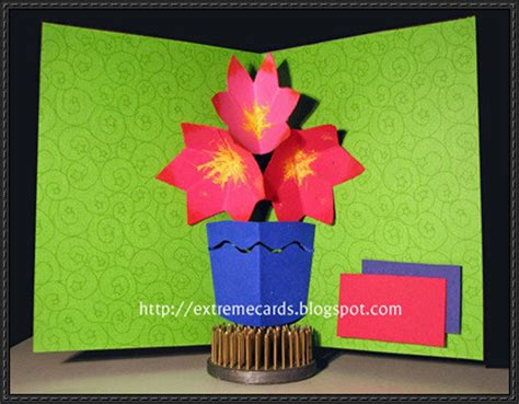 Pop Up Name Flower three flower bouquet pop up card free paper craft template