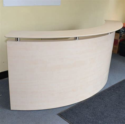 Maple Reception Desk Light Maple Curved Reception Desk